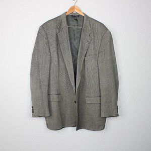 Burberrys' Heathered Brown & Grey Wool Blazer 52 L